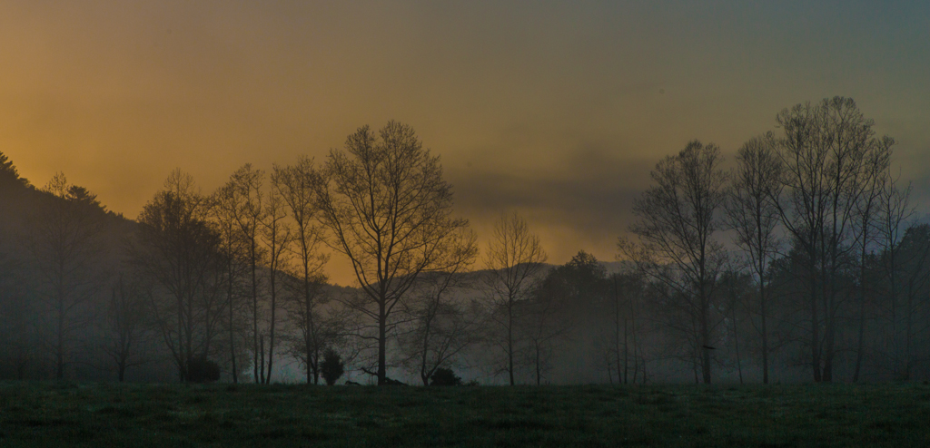 Sunrise and Fog - Cades Cove