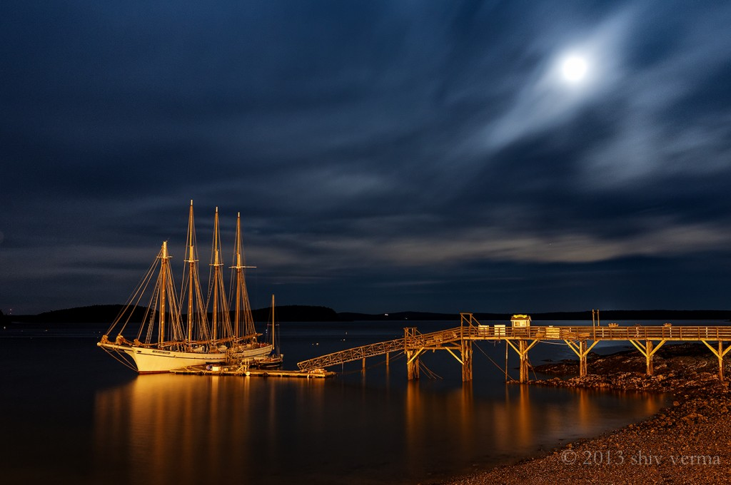 Night Photography in Bar Harbor