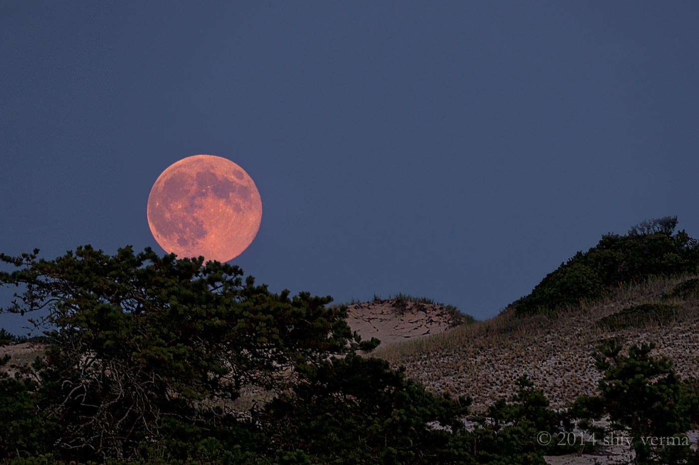 Super Moon - Cape Cod Sand Dunes