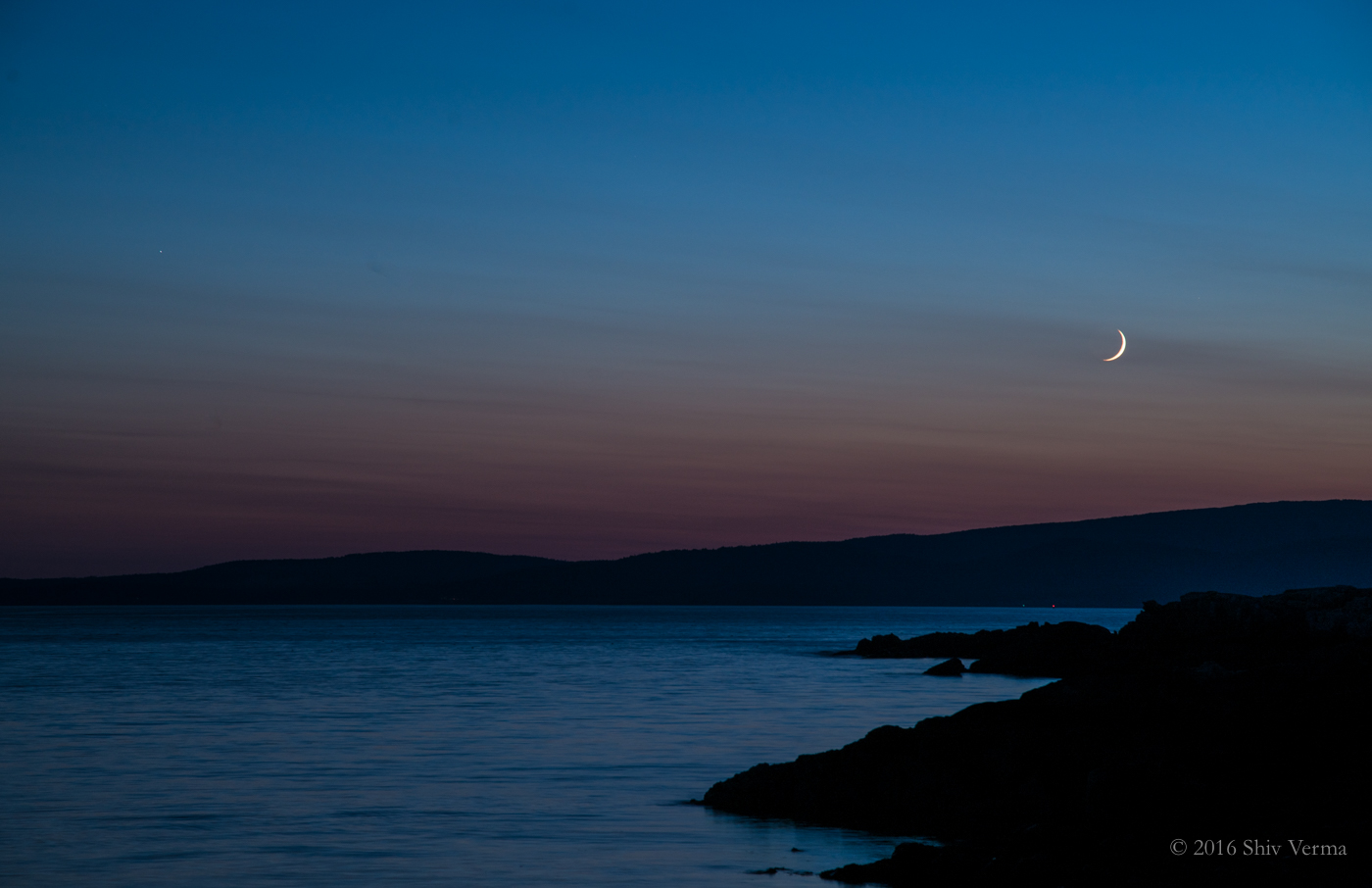 Moonset - Schoodic Peninsula