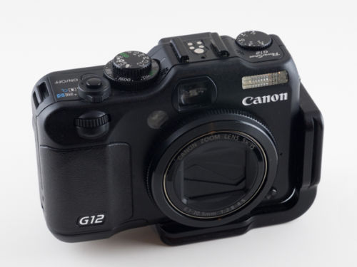 Canon G12, with the Really Right Stuff L Plate